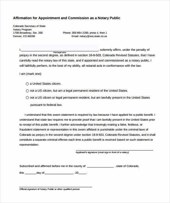 Example Of Notarized Document Unique 9 Sample Notary Statements Free Sample Example format