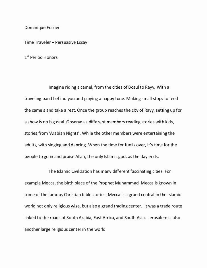 Example Of Persuasive Essay New Argumentative Essay Sample
