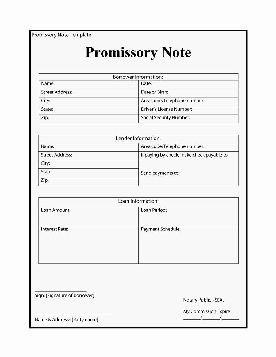 Example Of Promissory Note Best Of 45 Free Promissory Note Templates & forms [word & Pdf]