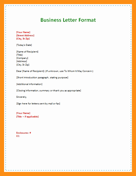 Example Of Simple Business Letter Awesome Simple Business Letter Template