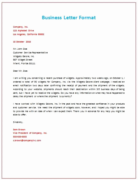 Example Of Simple Business Letter Best Of 6 Samples Business Letter format to Write A Perfect