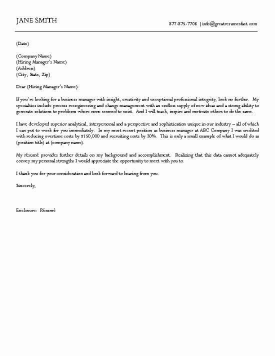 Example Of Simple Business Letter Elegant Business Cover Letter Example