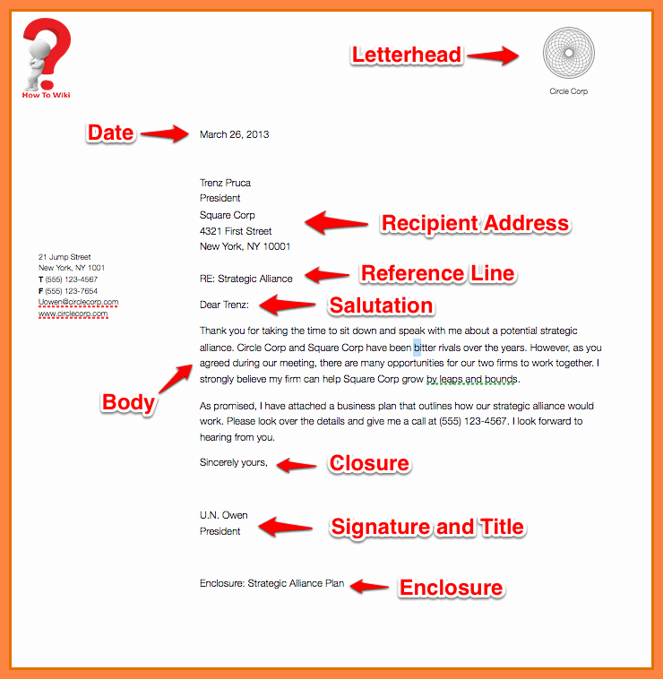 Example Of Simple Business Letter Luxury How to Write A Business Letter for A Pany [with Example