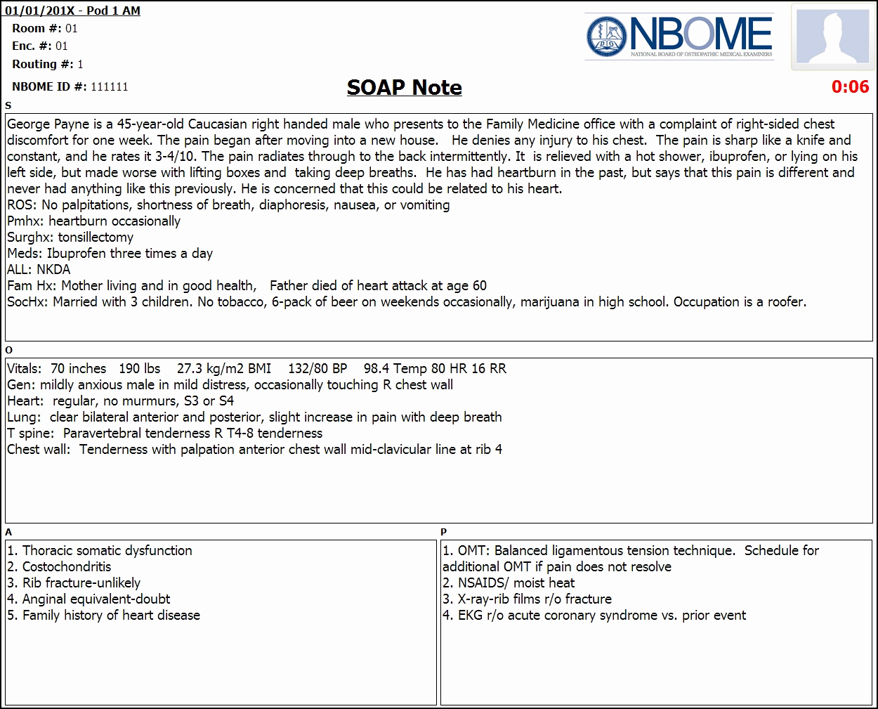 Example Of soap Note Awesome Pleted Esoap Note Sample — Nbome