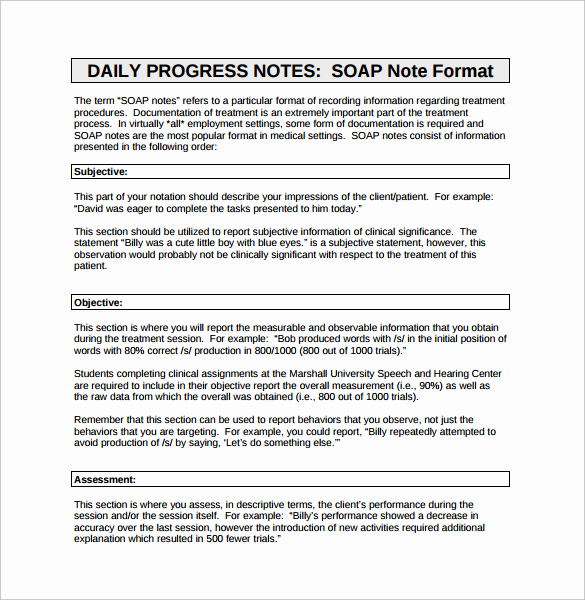 Example Of soap Note Beautiful 15 soap Note Examples Free Sample Example format
