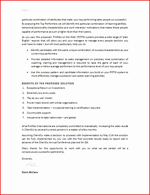 Examples Of Business Proposals Fresh Sample Business Proposal Letter