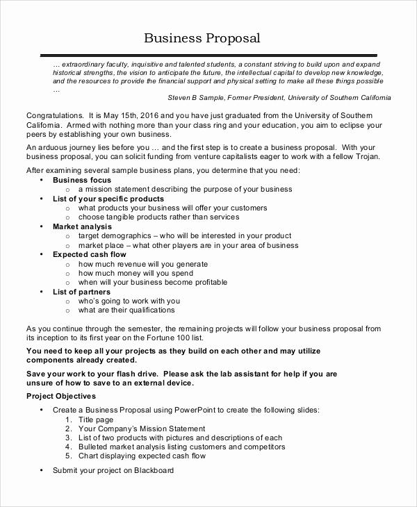 Examples Of Business Proposals Unique 17 Sample Business Proposals Doc Pdf
