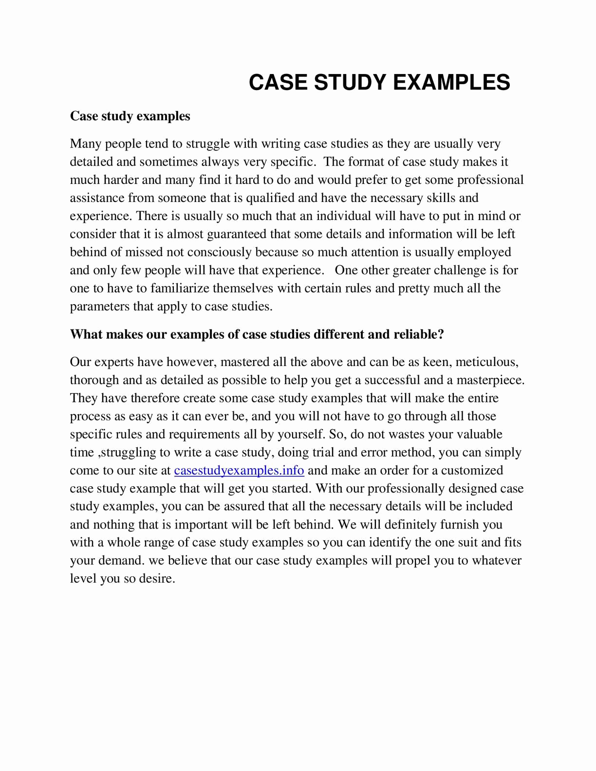 Examples Of Case Studies Best Of Calaméo Case Study Examples