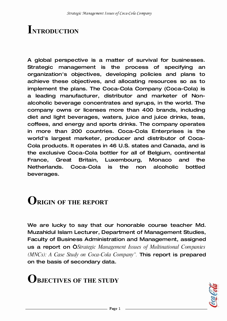 Examples Of Case Studies Unique Strategic Management issues Multinational Panies Mn