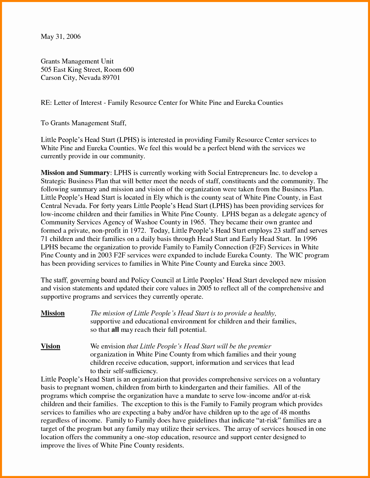 Examples Of Letters Of Interest Elegant 12 Cover Letter Statement Of Interest Examples