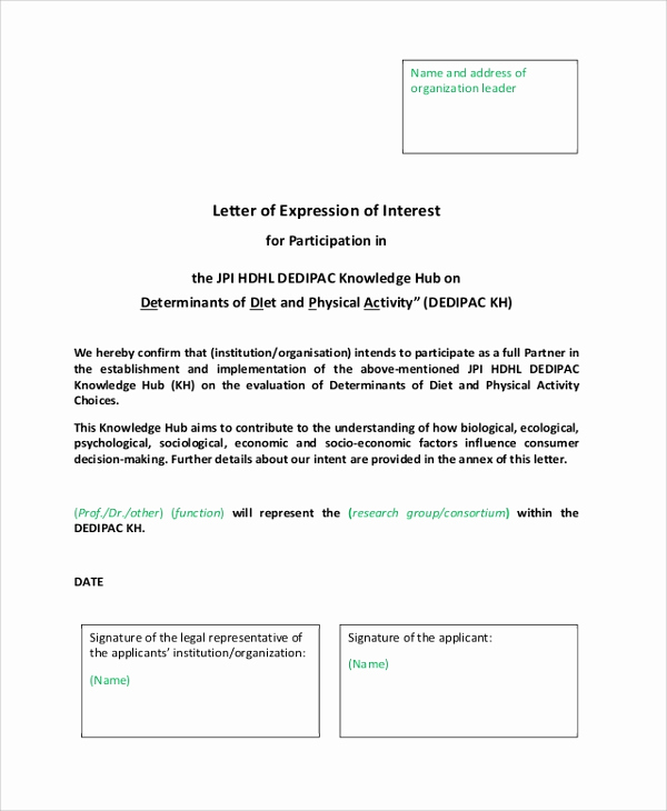 Examples Of Letters Of Interest Unique 20 Sample Letter Of Interests Pdf Doc