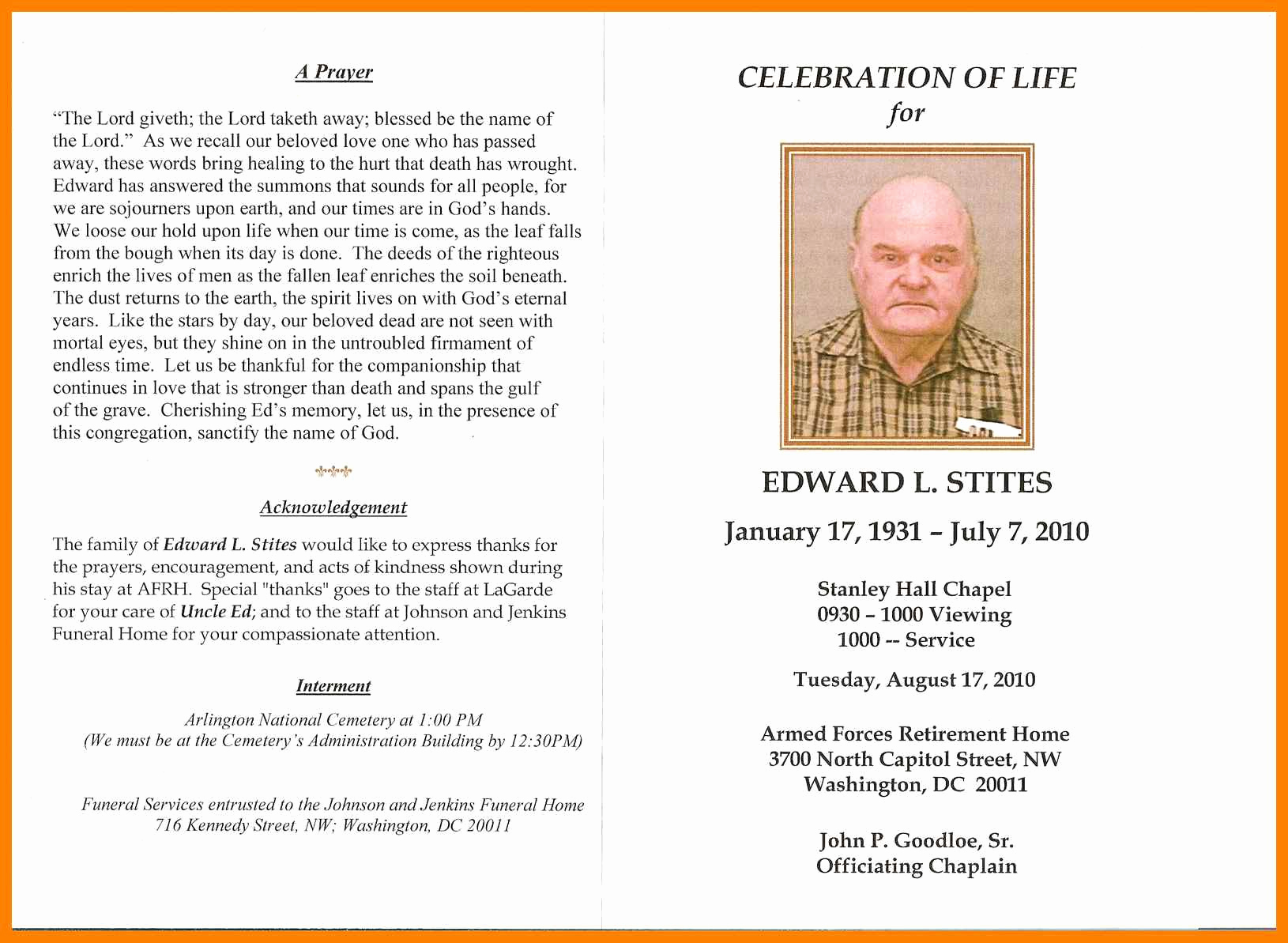 Examples Of Obituaries Well Written Inspirational Obituary Programs Examples