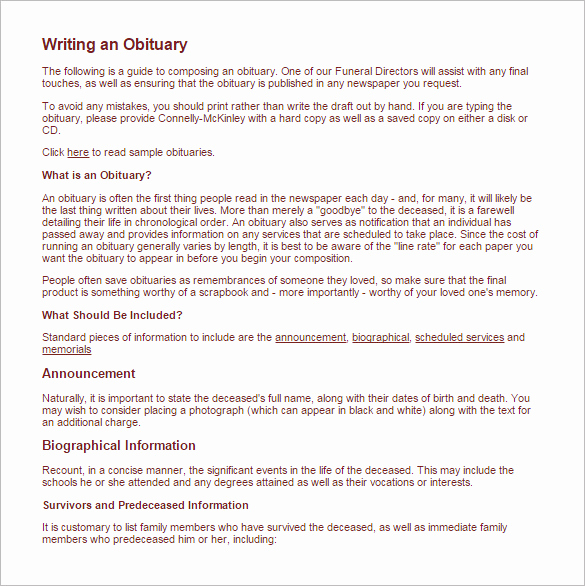 Examples Of Obituaries Well Written New How to Write An Obituary for Mother