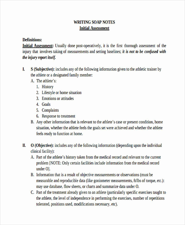 Examples Of soap Notes Lovely 19 soap Note Examples Pdf
