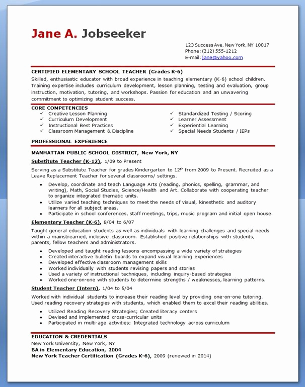 Examples Of Teacher Resumes Awesome Hipster Resume for Elementary Teacher Resumes