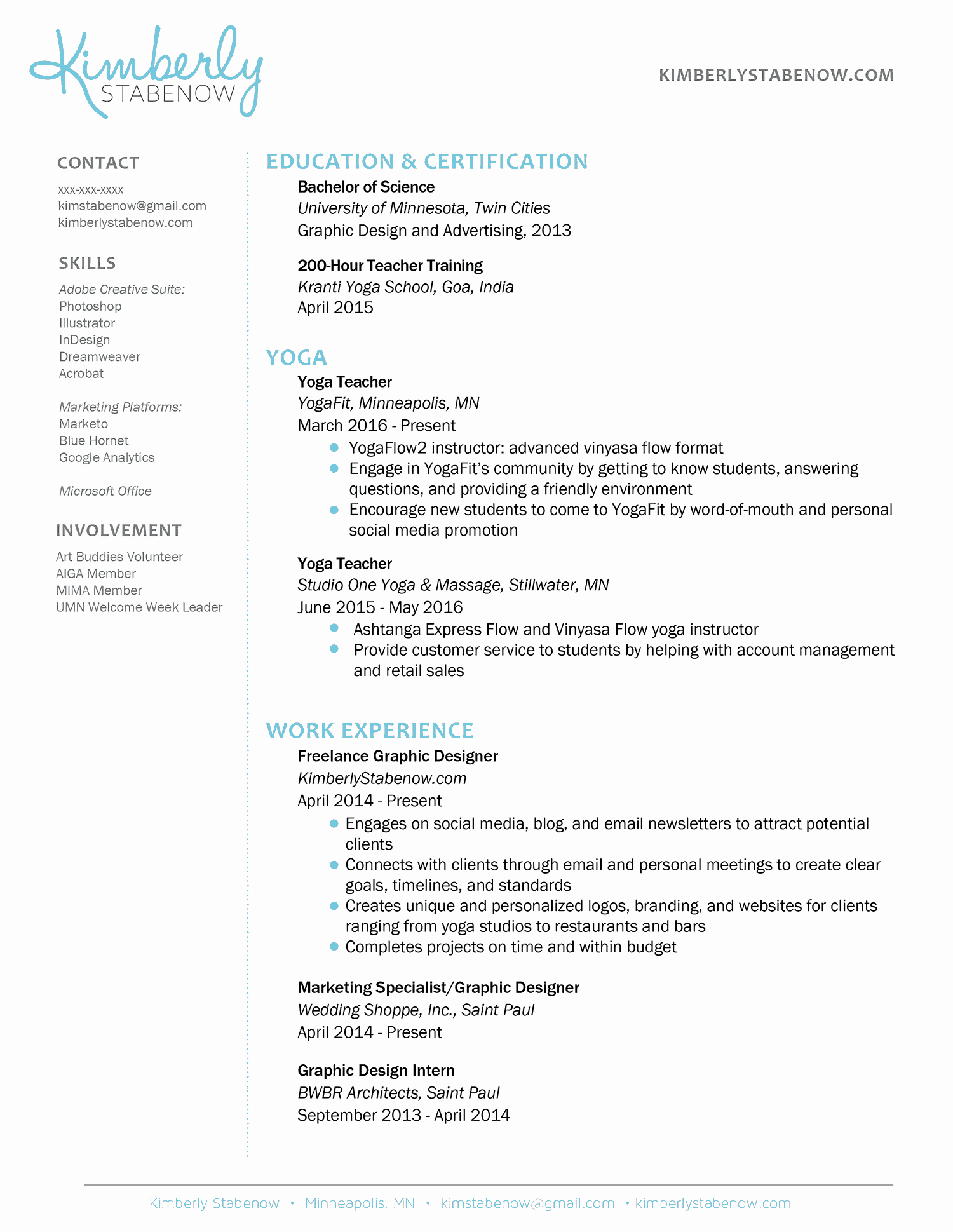 Examples Of Teacher Resumes New How to Create the Perfect Yoga Teacher Resume the Yoga