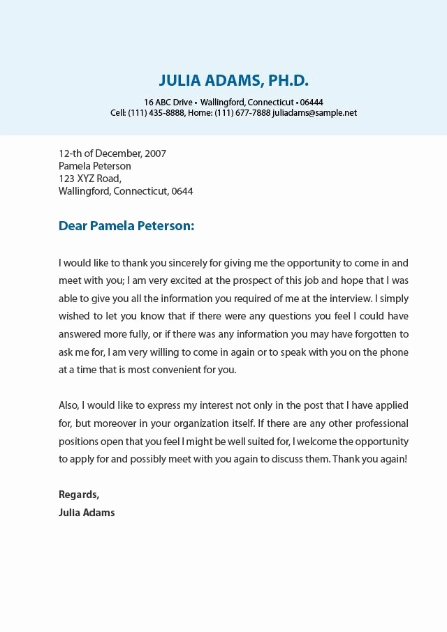 Examples Of Thank You Letters Elegant Examples Thank You Letters to Employers