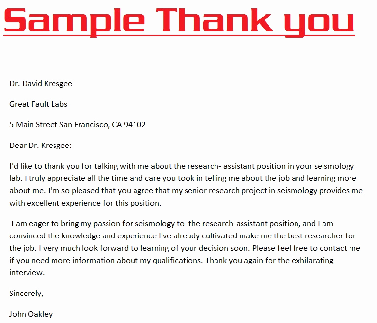Examples Of Thank You Letters Inspirational Thank You Letters 3000