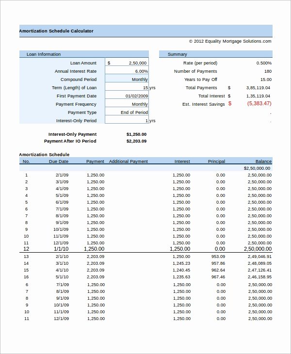 Excel Amortization Schedule Template Elegant 8 Excel Amortization Schedule Samples