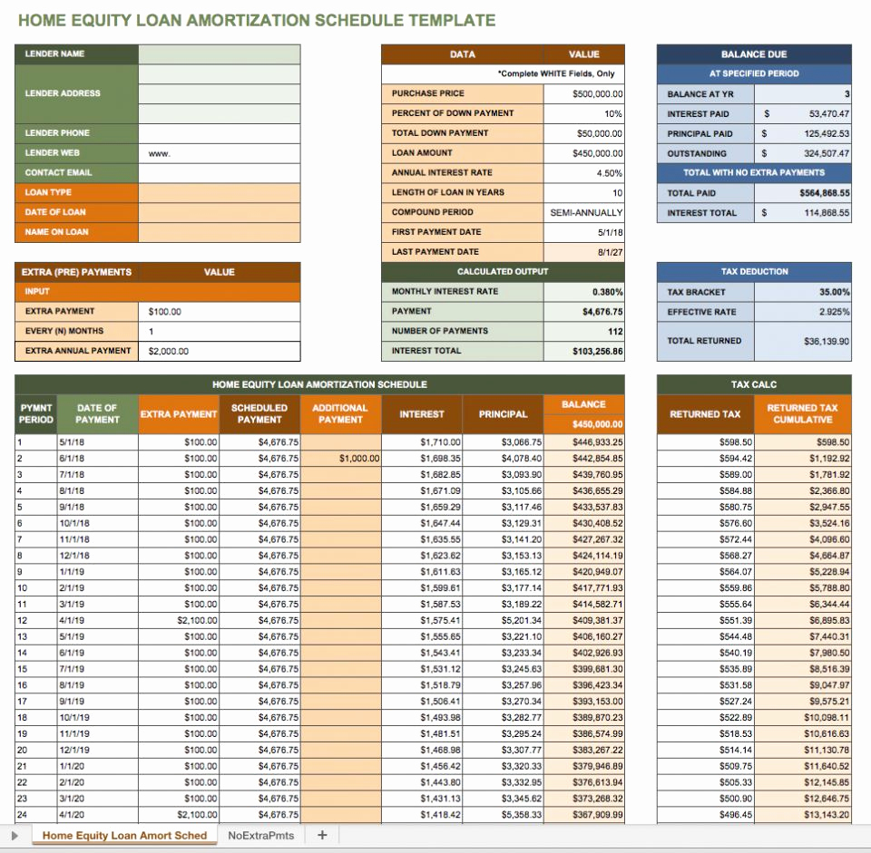 Excel Amortization Schedule Template Fresh Free Excel Amortization Schedule Templates Smartsheet
