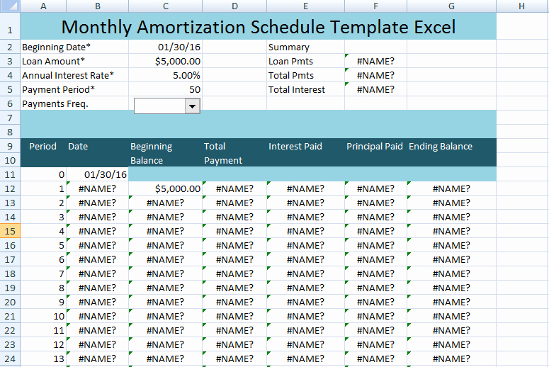 Excel Amortization Schedule Template Unique Monthly Amortization Schedule Excel Template Uk Project