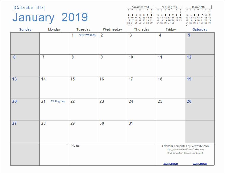 Excel Calendar 2019 Template Best Of 2019 Calendar Templates and