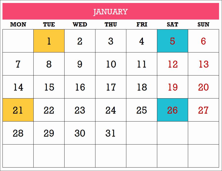 Excel Calendar 2019 Template Lovely 2019 Excel Calendar Template Free 19 Calendar Designs