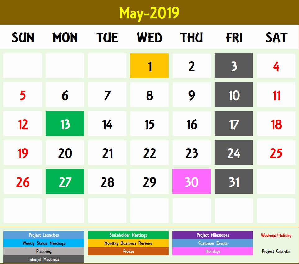 Excel Calendar 2019 Template Lovely Excel Calendar Template Excel Calendar 2019 2020 or Any