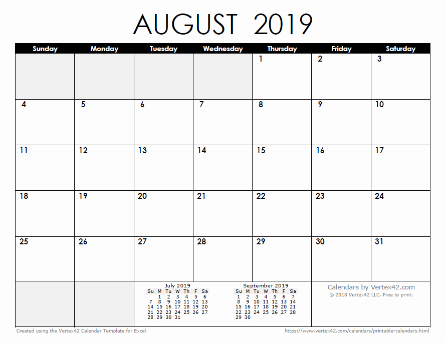 Excel Calendar 2019 Template New 2019 Calendar Templates and