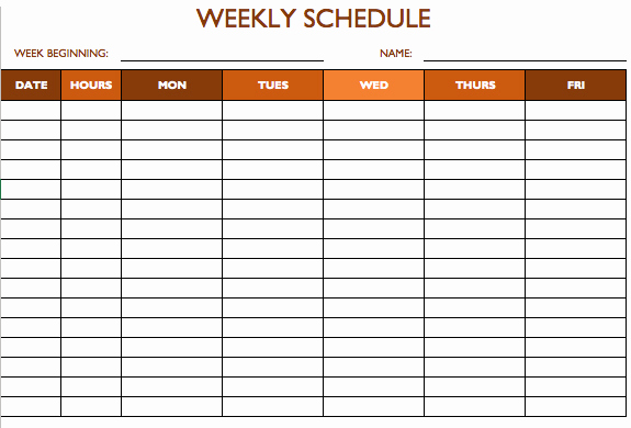 Excel Employee Schedule Template Awesome Free Work Schedule Templates for Word and Excel