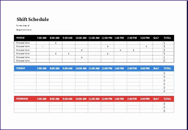 Excel Employee Schedule Template Fresh 8 Employee Shift Schedule Exceltemplates Exceltemplates