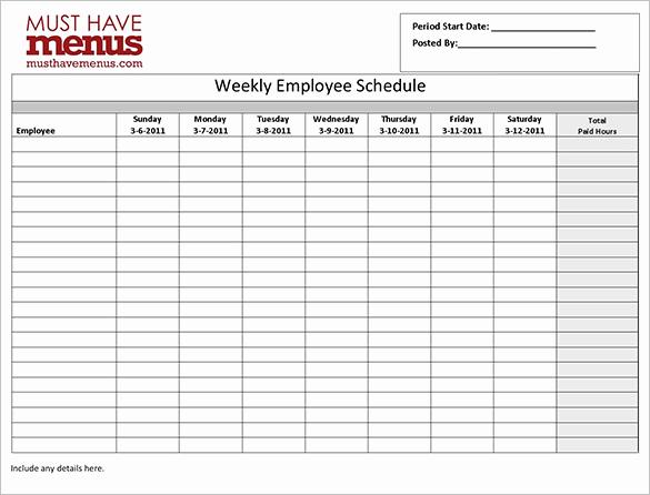Excel Employee Schedule Template Inspirational Employee Work Schedule Template 16 Free Word Excel
