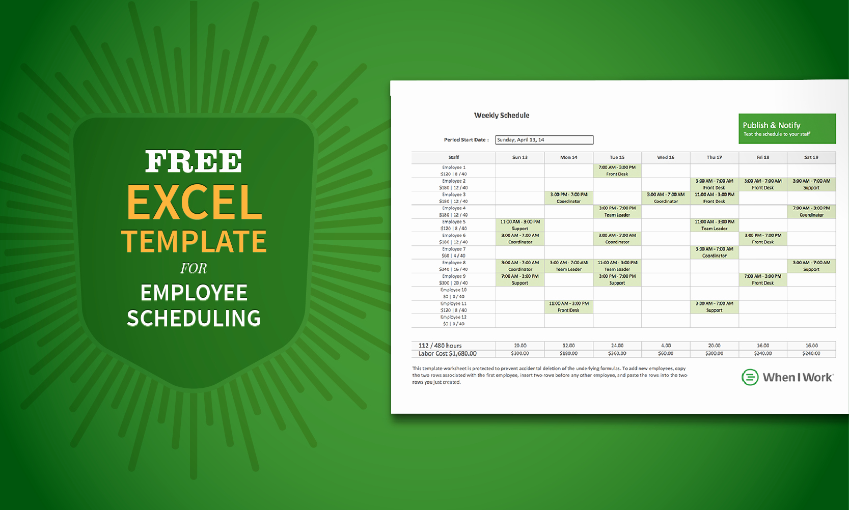 Excel Work Schedule Template Best Of Free Excel Template for Employee Scheduling