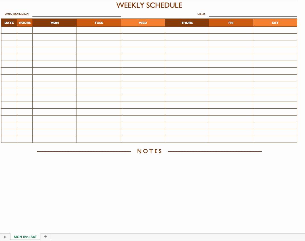 Excel Work Schedule Template Fresh Free Work Schedule Templates for Word and Excel