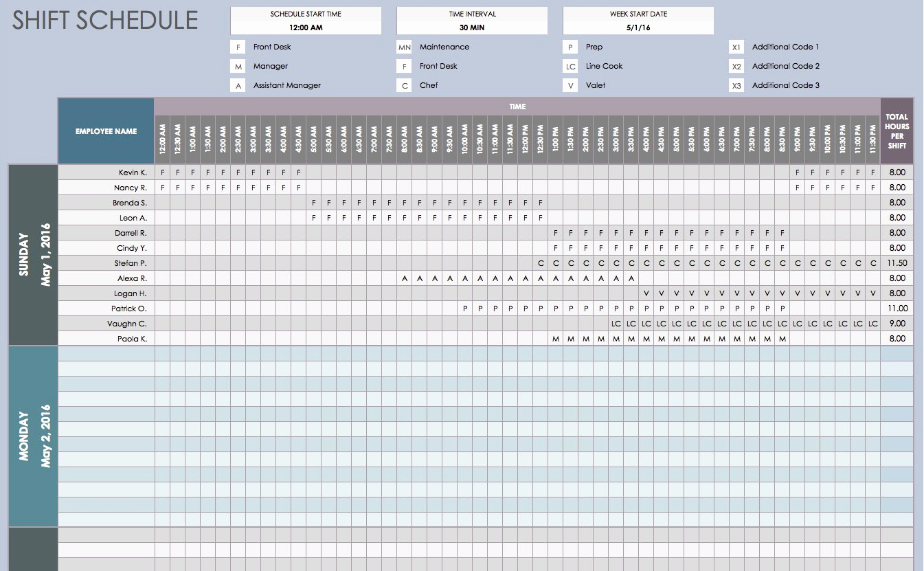Excel Work Schedule Template Luxury Free Daily Schedule Templates for Excel Smartsheet