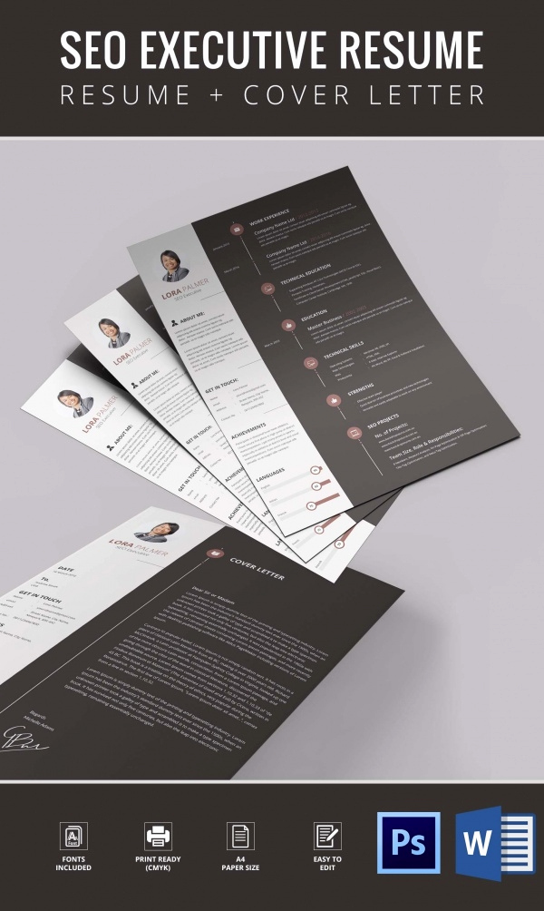 Executive Resume Template Word Elegant Resume Template 92 Free Word Excel Pdf Psd format