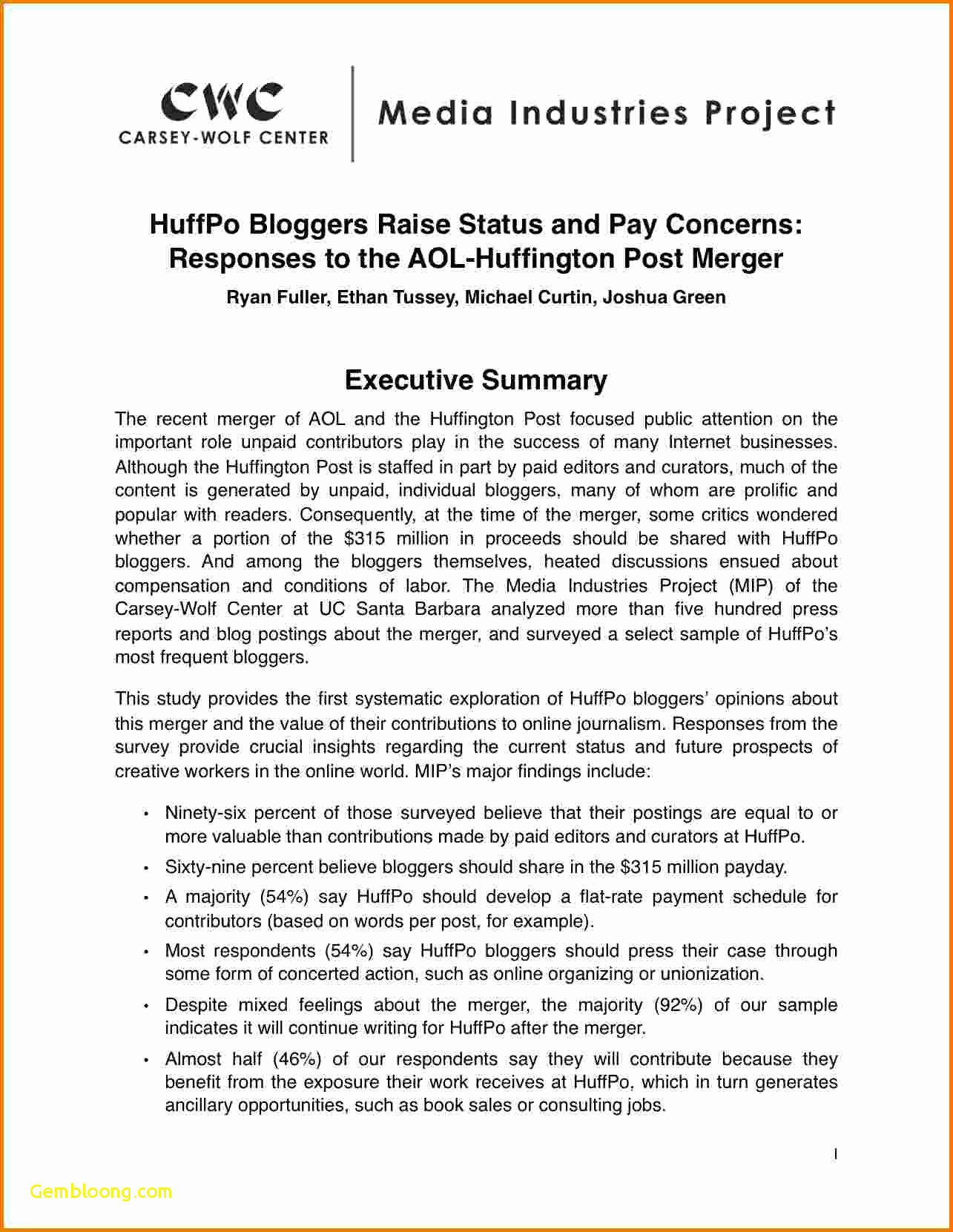 Executive Summary Example Business Plan Elegant 9 Executive Summary Marketing Plan Examples Pdf Word