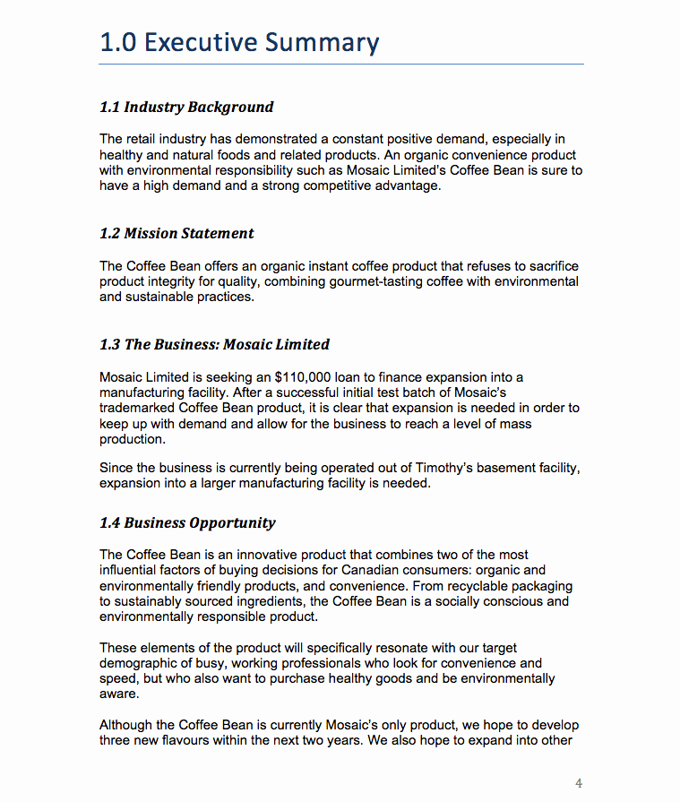 Executive Summary Example Business Plan Luxury How to Write An Executive Summary On A Marketing Plan