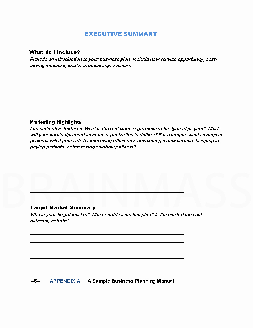 Executive Summary Marketing Plan Beautiful Marketing Plan for A Health Care Clinic