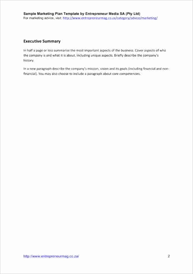 Executive Summary Marketing Plan Luxury 10 Marketing Plan Executive Summary Examples Pdf