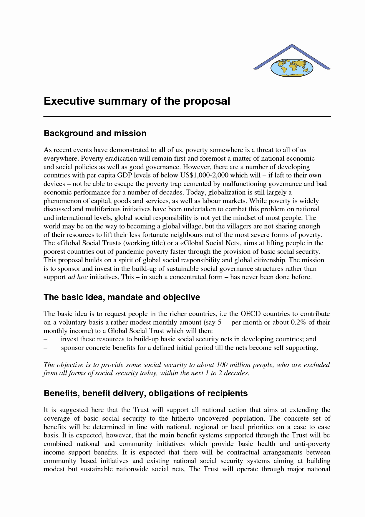 Executive Summary Sample for Proposal Best Of Examples Of Executive Summary for A Business Plan