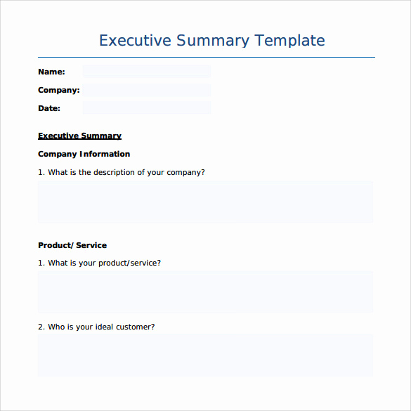 Executive Summary Sample Pdf Inspirational Sample Executive Summary Template 7 Free Documents In