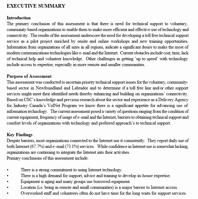 Executive Summary Sample Pdf Luxury 5 Free Sample Executive Summary Template for Customer