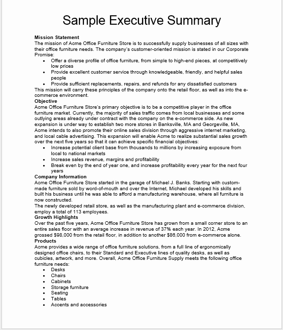 Executive Summary Template Word Best Of 29 Free Executive Summary Templates Word Templates