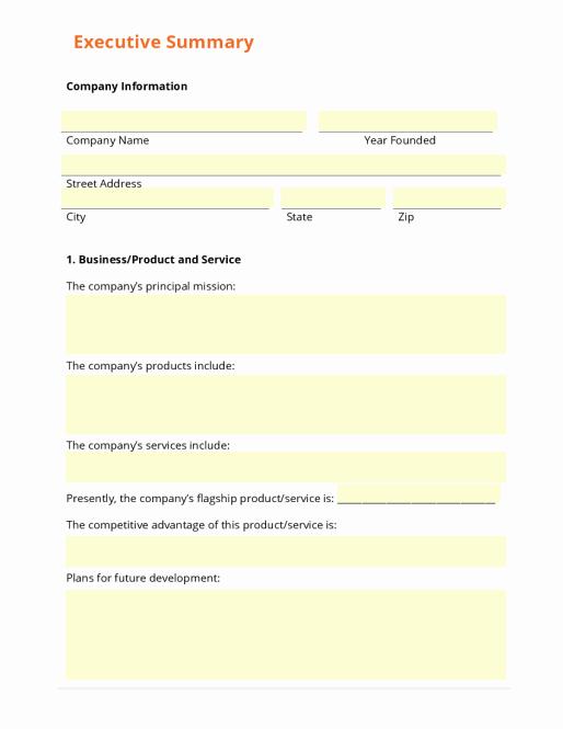 Executive Summary Template Word Elegant 43 Free Executive Summary Templates In Word Excel Pdf