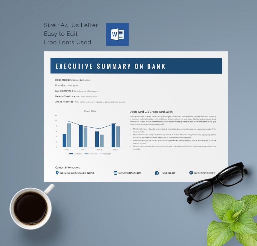 Executive Summary Template Word Fresh 31 Executive Summary Templates Free Sample Example
