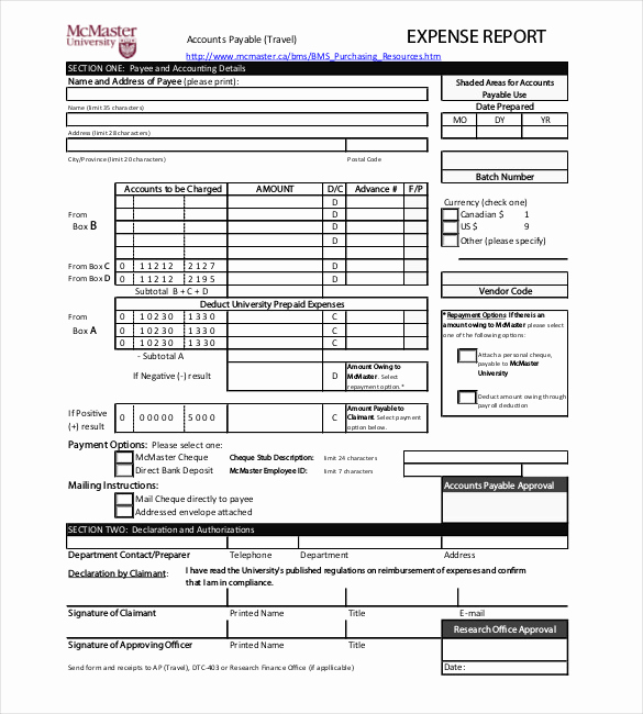 Expense Report Template Free Awesome 8 Expense Report Templates Free Sample Example format