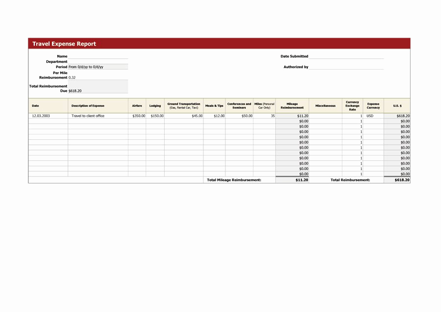 Expense Report Template Free Best Of 40 Expense Report Templates to Help You Save Money
