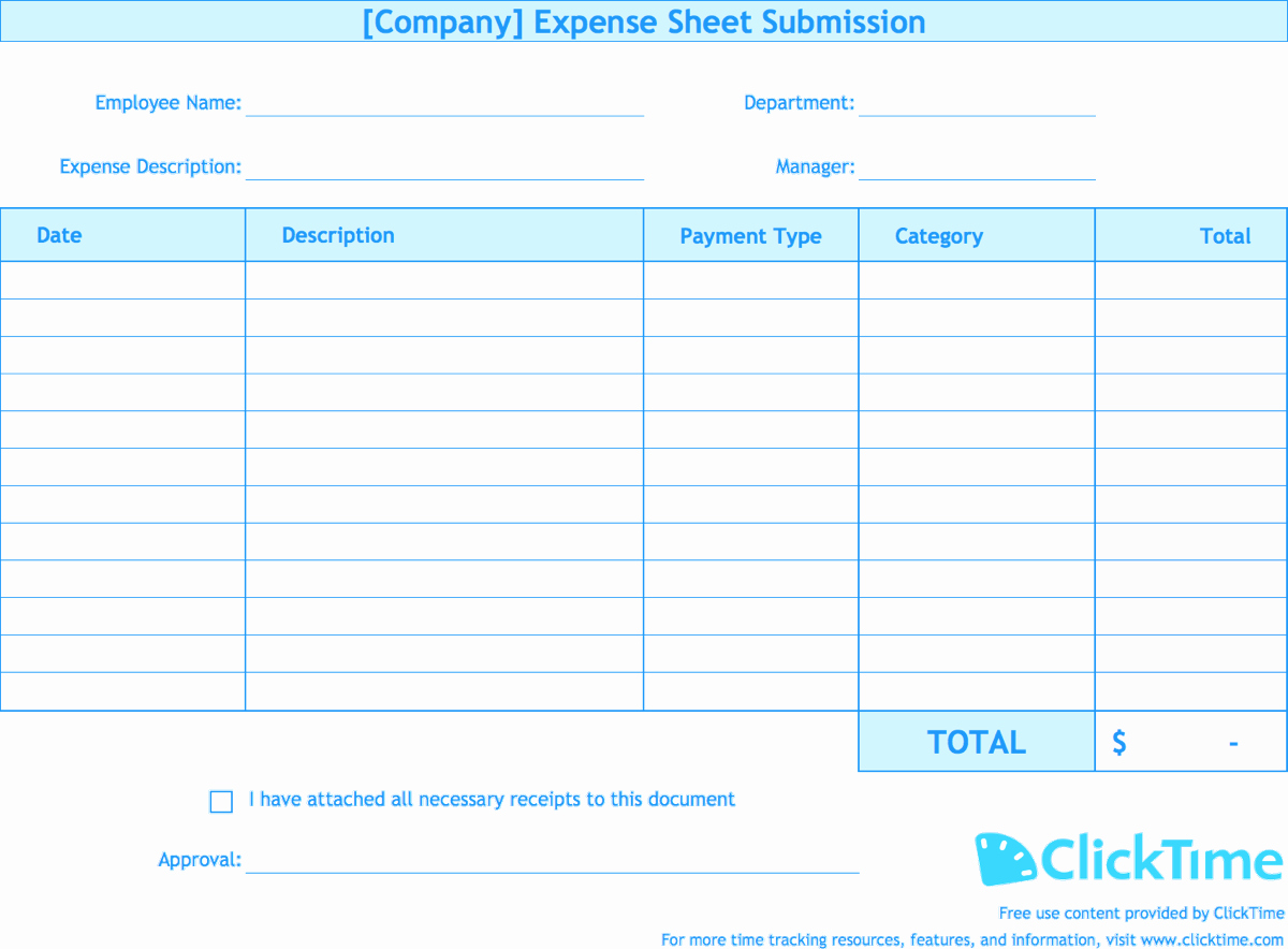 Expense Report Template Free Elegant Expense Report Template