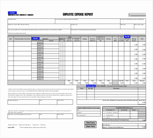 Expenses Report Template Excel Best Of 29 Expense Report Templates Pdf Doc